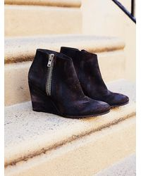 Free People | Brown Orlanda Zip Wedge Boot | Lyst