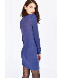 Kimchi Blue - Blue Lilac Blouson Sweaterknit Mini Dress - Lyst