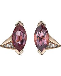 Shaun Leane | Aerial 18ct Rose-gold, Pink Tourmaline And Diamond Earrings | Lyst