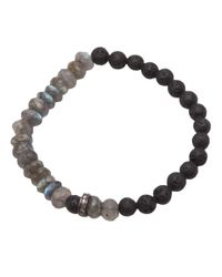 Ocnarf Sairutsa - Black Labradorite Lava Bracelet - Lyst