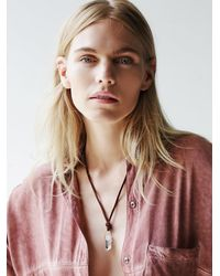 Free People | Multicolor Clp Womens Found Crystal Pendant | Lyst