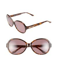 BCBGMAXAZRIA | Brown Bcbg 'sweetheart' 60mm Sunglasses | Lyst