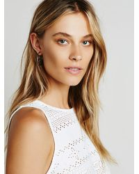 Free People | Metallic Hidden Treasure Hoops | Lyst