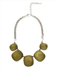 Jaeger - Metallic Hammered Pebble Necklace - Lyst