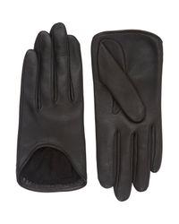 Rag & Bone - Black Lambskin Moto Gloves - Lyst