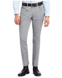 Kenneth Cole Reaction | Gray Slim Sateen Pants for Men | Lyst