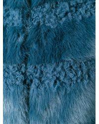 Shrimps - Blue Faux Fur Coat - Lyst