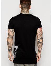 Criminal Damage - Black Ripple Print T-shirt for Men - Lyst