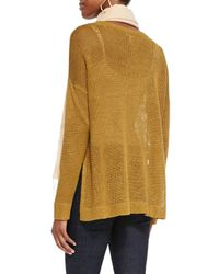 Eileen Fisher - Yellow Airy Linen Box Top - Lyst