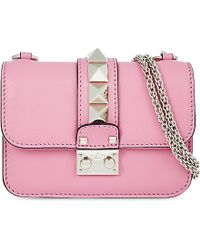 Valentino | Rockstud Lock Mini Clutch Bag, Women's, Bright Pink | Lyst