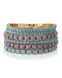 R.j. Graziano | Blue Golden Stretch Bracelet Set | Lyst