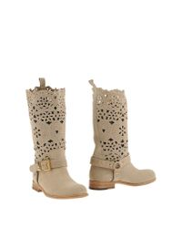 Twin Set - Natural Boots - Lyst