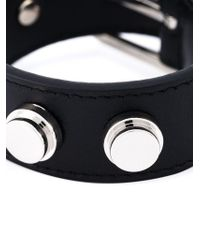 Saint Laurent | Black 'clous De Paris' Bracelet | Lyst