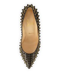 Christian Louboutin - Black Follies Cabo Studded Pumps - Lyst