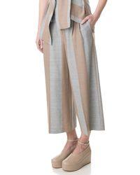 Tibi - Gray Horizon Stripe Edie Culottes - Lyst