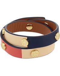 Tory Burch - Metallic Double Wrap Bracelet - Lyst