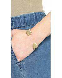 Madewell - Metallic Simple Shape Cuff Bracelet Vintage Gold - Lyst