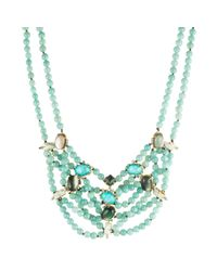 Alexis Bittar - Blue Multi-strand Beaded Stone Bib Necklace - Lyst