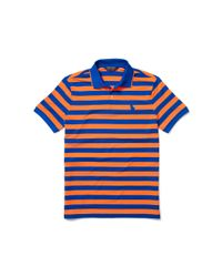 Ralph Lauren - Blue Slim-fit Striped Piqué Polo for Men - Lyst
