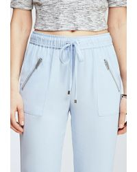 Forever 21 - Blue Zippered Drawstring Pants - Lyst