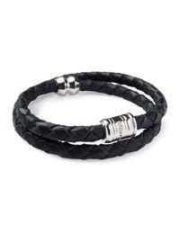 Miansai - Black Men's Woven Leather Bracelet for Men - Lyst