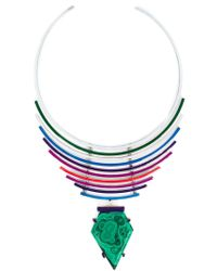 Gemma Redux - Green Malachite Pendant Necklace - Lyst