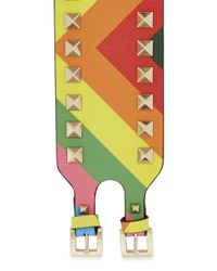 Valentino | Multicolor Rockstud 1973 Leather Cuff | Lyst