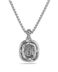 David Yurman | Metallic Labyrinth Pendant With Diamonds On Chain | Lyst