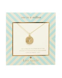 kate spade new york | Metallic One In A Million Letter Y Pendant Necklace | Lyst