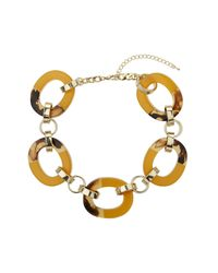 TOPSHOP | Yellow Mustard Chunky Link Collar | Lyst