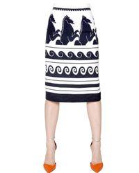 Vionnet | White Cloqué Viscose Jacquard Skirt | Lyst