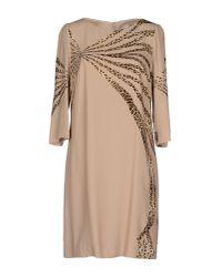 Class Roberto Cavalli - Natural Short Dress - Lyst