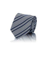 Brioni - Blue Men's Diagonal-striped Jacquard Necktie for Men - Lyst