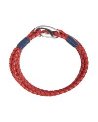 Ted Baker | Red Sor Leather Bracelet for Men | Lyst
