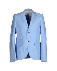 Officina 36 - Blue Blazer for Men - Lyst