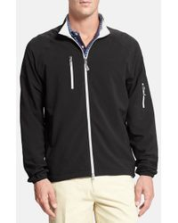 Peter Millar | Black 'barcelona' Water Resistant Windbreaker for Men | Lyst