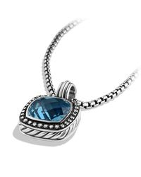 David Yurman | Blue Albion Pendant With Diamonds And Darkened Silver, 14Mm Gemstone | Lyst
