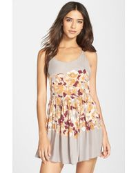 Free People - Gray Voile Slip - Lyst