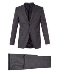 Givenchy | Gray Contrast-collar Two-button Suit for Men | Lyst