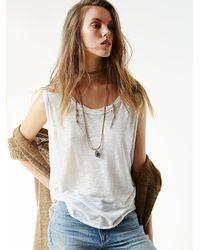 Free People - Brown Womens Kristel High Lo Collar - Lyst