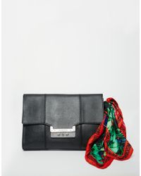 Love Moschino | Blue Clutch Bag With Scarf | Lyst