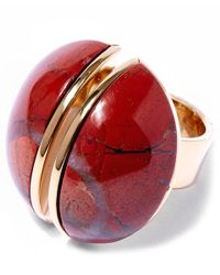Chloé - Red Ellie Oversized Ring - Lyst