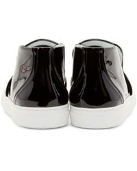 Pierre Hardy | Black Patent Slip_on Sneakers for Men | Lyst