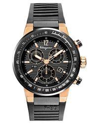Ferragamo - Black 'f-80' Chronograph Watch for Men - Lyst