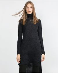 Zara | Gray Polo Neck Sweater | Lyst