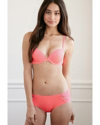 Forever 21 | Pink Lace-paneled Push-up Bra | Lyst