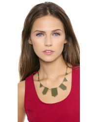 House of Harlow 1960 | Green Five Station Necklace Olive | Lyst
