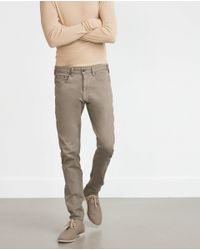 Zara | Gray Super Stretch Trousers for Men | Lyst