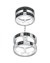 Swarovski - Metallic Viktor And Rolf Frozen Crystals Double Ring - Lyst