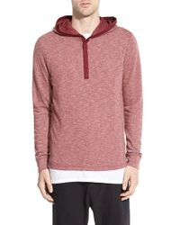 Howe | Red 'longshoreman' Hooded Long Sleeve Shirt for Men | Lyst
